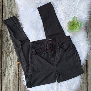 J Brand High Rise Super Skinny Maria Black Jeans